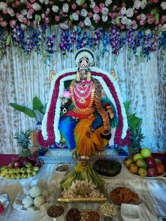 Diwali Decorations At Home, Festival Decorations, Flower Decorations, Navratri Wallpaper, Ganapati Decoration, Saraswati Goddess, Pooja Room Design, Diwali Diy, Flower Rangoli