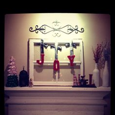 Christmas mantle. I just happen to have a window I can do this with!