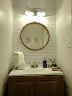 brick powder mirror furniture round mirrors