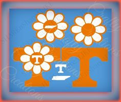 SVG Tennessee Flower T State Shape Letter by SHAREnShareALIKE