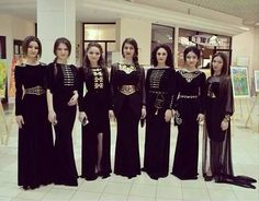 Modern caucasian dresses