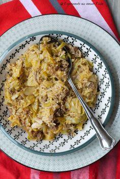 Experimente aus meiner Küche: Reis-Spitzkohlpfanne mit Hackfleisch
