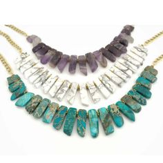 Create an elegant collar necklace featuring your favorite natural stone.