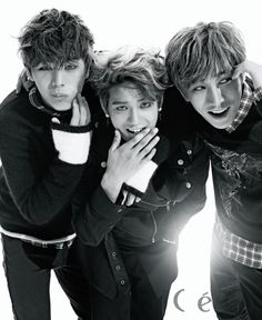 Sungjae, Peniel and Eunkwang (BTOB) They're so good looking!