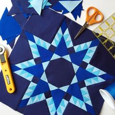 No Y Seam Feathered Star Quilt