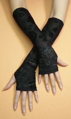 Designer Clothes, Shoes & Bags for Women Mode Mori, Steampunk Gloves, Diy Fashion, Fashion Outfits, Girl Outfits, Cute Outfits, Designs For Dresses, Black Gloves, Fashion Design Sketches