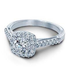 VERRAGIO Halo White Gold Diamond Engagement Ring Classic-903CU6