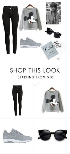 """""""Black and gray"""" by maida-962 ❤ liked on Polyvore featuring NIKE and GE"""
