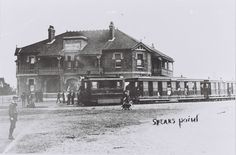 Steam tram at Speers Point Hotel (later Pippies Hotel), Speers Point, Community History Old Pictures, Old Photos, Newcastle Town, Australian Road Trip, Tourist Info, Victorian Photos, Old Maps, Central Coast, Local History