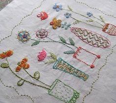 josie's garden stitch sampler