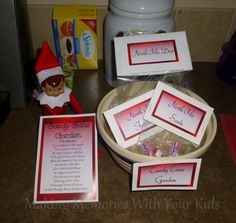 A Candy Cane Garden from Zachary, Our Elf on the Shelf {Free Printables}
