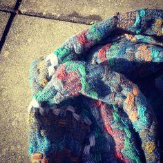 Handwoven lambswool scarf