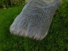 SALE 12 Dollars  Reg 16Plush Shag Faux Fur   Gray    by NonnaMiaCC, $12.00