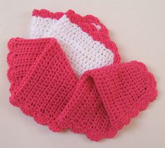 Set of 3 handmade crochet bath/shower wash cloths/flannels - cotton (white) & cotton/bamboo mix (pink) by Amanda Jane Crochet Stitches, Crochet Patterns, Handmade Crafts, Etsy Handmade, Soft And Gentle, Crochet Crafts, Washing Clothes, Crochet Clothes, Holiday Crafts