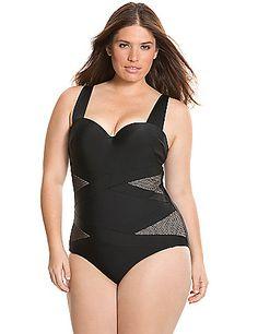 Illusion one-piece swim suit
