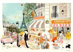 Springtime in Paris by ilustrista