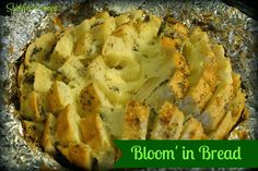 Spindles Designs by Mary & Mags: Bloom' In Bread - cheese and garlic bread? I'm in!