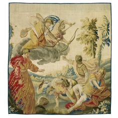 A French Metamorphoses Mythological Tapestry, `Niobe and her children',<br>Aubusson, early 18th century | Lot | Sotheby's