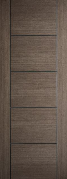 Modern style flush internal door with cross veneer design and finished with feature V grooves, complete the range with matching Vancouver chocolate grey fire and glazed door Internal Doors Modern, Grey Doors, Door Furniture, Entrance Doors, Interior Modern, Home Reno, Architect Design, Panel Doors, Epoxy