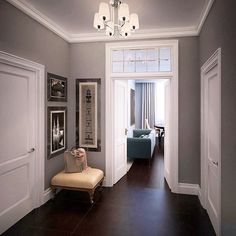 90 best designing a living room with dark wood floor 41 Room Interior, Interior Design Living Room, Living Room Designs, Dark Wood Floors Living Room, Warren House, Small Hallways, Paint Colors For Home, Hallway Decorating, Ideas
