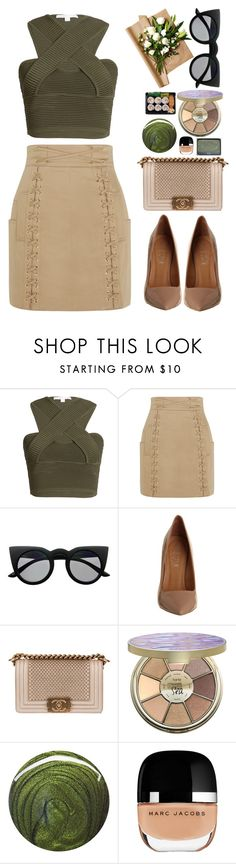 """""""Chameleon"""" by finding-0riginality ❤ liked on Polyvore featuring Jonathan Simkhai, Balmain, Retrò, Office, Chanel, tarte, NARS Cosmetics, Jin Soon and Marc Jacobs"""