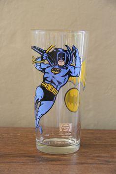 Vintage DC Comics Batman Pepsi Collector Series Glass by TheBlackVinyl, Batman Room, I Am Batman, Superman, Cartoon Glasses, All Batmans, Comic Room, Nananana Batman, Christopher Reeve, Dc Comics Superheroes