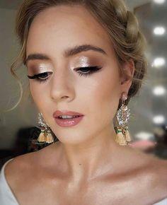 Simple Wedding Makeup, Wedding Eye Makeup, Wedding Makeup For Brown Eyes, Simple Eye Makeup, Natural Makeup, Bridesmaid Makeup Blue Eyes, Natural Nails, Makeup For Bridesmaids, Make Up Ideas For Wedding