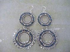 Hoop Earrings SILVER GODDESS IV Seed Bead Hoop Earrings via Etsy