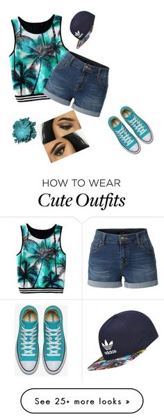 """relaxing outfit....and cute to wear in public"" by jhalpine on Polyvore featuring LE3NO, adidas, GetTheLook and hats"