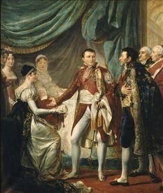 Napoleón y María Luisa presentan al Rey de Roma