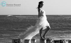 robe de mariée dans le vent