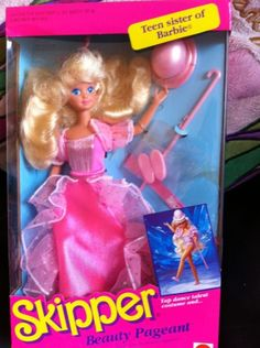 80s Beauty Pageant Skipper Doll Barbie Sister By Mattel 1988
