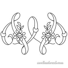 Monogram Patterns for Hand Embroidery – W and X