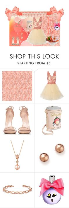 """She's A Peach!"" by wendy-collins-1 ❤ liked on Polyvore featuring Notte by Marchesa, Stuart Weitzman, Betsey Johnson, LE VIAN, Bloomingdale's and Lanvin"