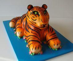 3D Tiger Cake Orange. Custom Cakes Gallery - Animal Cakes - TipsyCake Chicago
