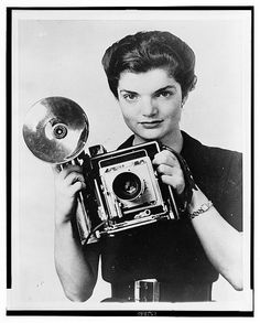 Jacqueline Bouvier- photographer...   Upon graduating college at age 22, she turned down the Vogue editorship and instead became a photographer for the Washington Times-Herald, at $42...