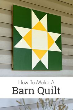 Easy to follow instructions for How To Make A Barn Quilt along with a printable barn quilt pattern. Barn Quilt Designs, Barn Quilt Patterns, Quilting Designs, Painted Barn Quilts, Barn Signs, Barn Art, Quilt Material, Diy Arts And Crafts, Wood Crafts