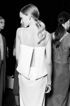 Backstage at Jason Wu S/S 2015