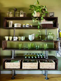 Create an industrial-chic open storage unit with these easy step-by-step instructions.