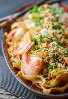pad thai noodles with shrimp from The Wicked Noodle