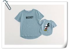 New 2015 Summer Family style mom and kids T-shirt cute cartoon Mickey family clothing 2-5Y kids family matching outfits