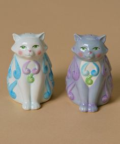 Take a look at this Cat Salt & Pepper Shaker Set by Jim Shore on #zulily today! $12 !!