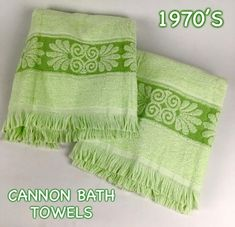 1970's Cannon Bath Towels. Seriously, I still have some of these for garage towels. Made to last!