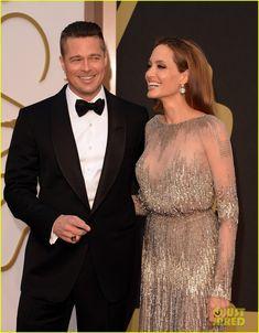 Brad Pitt & Angelina Jolie - Oscars 2014 Red Carpet