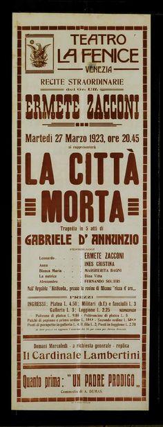 Gabriele D'Annunzio & La Citta Morta (1898; performed 1918) #WhiteCollar