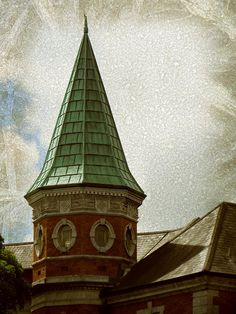 My photo of a church tower in the center of Cork. Edited the image in Adobe Photoshop using my photos of Frost Textures.