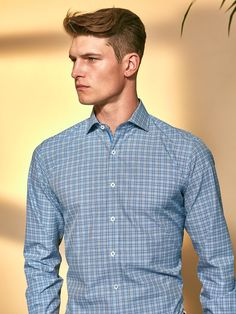 Shaped Fit Long Sleeve Stripes and Checks cotton shirt with spread collar and adjustable notched cuff. Fashioned in premium quality fabric with genuine mother of pearl buttons, contrast detail and a curved hem. This impeccably tailored shirt is perfect fo Men's Shirts And Tops, Luxury Purses, Luxury Fashion, Mens Fashion, Mother Of Pearl Buttons, Western Outfits, Dress Codes, Luxury Branding, Men Sweater