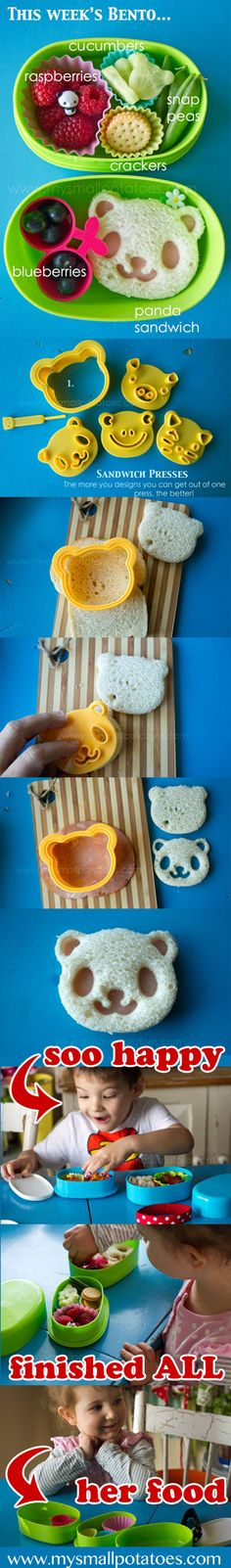 Panda Lunch your kid is sure to eat!  by @Arlee Greenwood