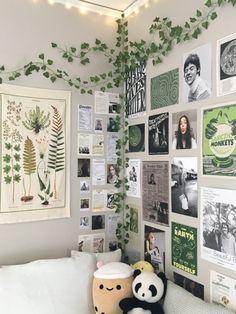 Room Design Bedroom, Room Ideas Bedroom, Bedroom Decor, Bedroom Inspo, Cute Room Ideas, Cute Room Decor, Study Room Decor, Room Wall Decor, Indie Room