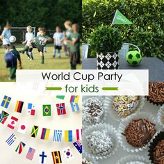 Host a World Cup Party for Kids Mollie will have a party like this someday I bet... :)